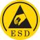 ESD geprüft nach DIN EN 61340-4-3: 2002 + DIN EN 61340-5-1: 2008 Schuhe mit ESD-Kennzeichnung laden sich nicht statisch auf und leiten die statische Elektrizität in kontrollierter Form vom Körper ab. Dieses vermeidet Schäden an sensiblen, elektronischen Komponenten.
