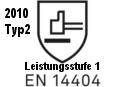 EN14404 Leistungsstufe 1